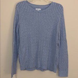 Croft and barrow blue cable knit sweater